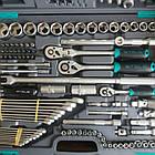 """Набор инструмента STELS 142 ед. """"Все що треба"""" с пожизненной гарантией +противоуд. кейс 14107, фото 4"""