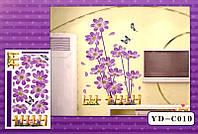 9040343 3D Декор - инсталляция ЦВЕТЫ + ЗАБОР YD-C010