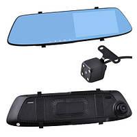 Автомобильный видеорегистратор-зеркало L-1001C + выносная камера, 5'', 1080P Full HD, фото 1