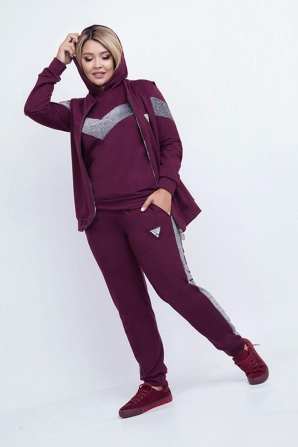 Модный спортивный костюм тройка 50918 (48–54р) в расцветках.