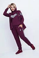 Модный спортивный костюм тройка 50918 (48–54р) в расцветках., фото 1