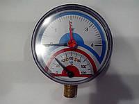 Термоманометр вертикальный EMMETI (боковой)