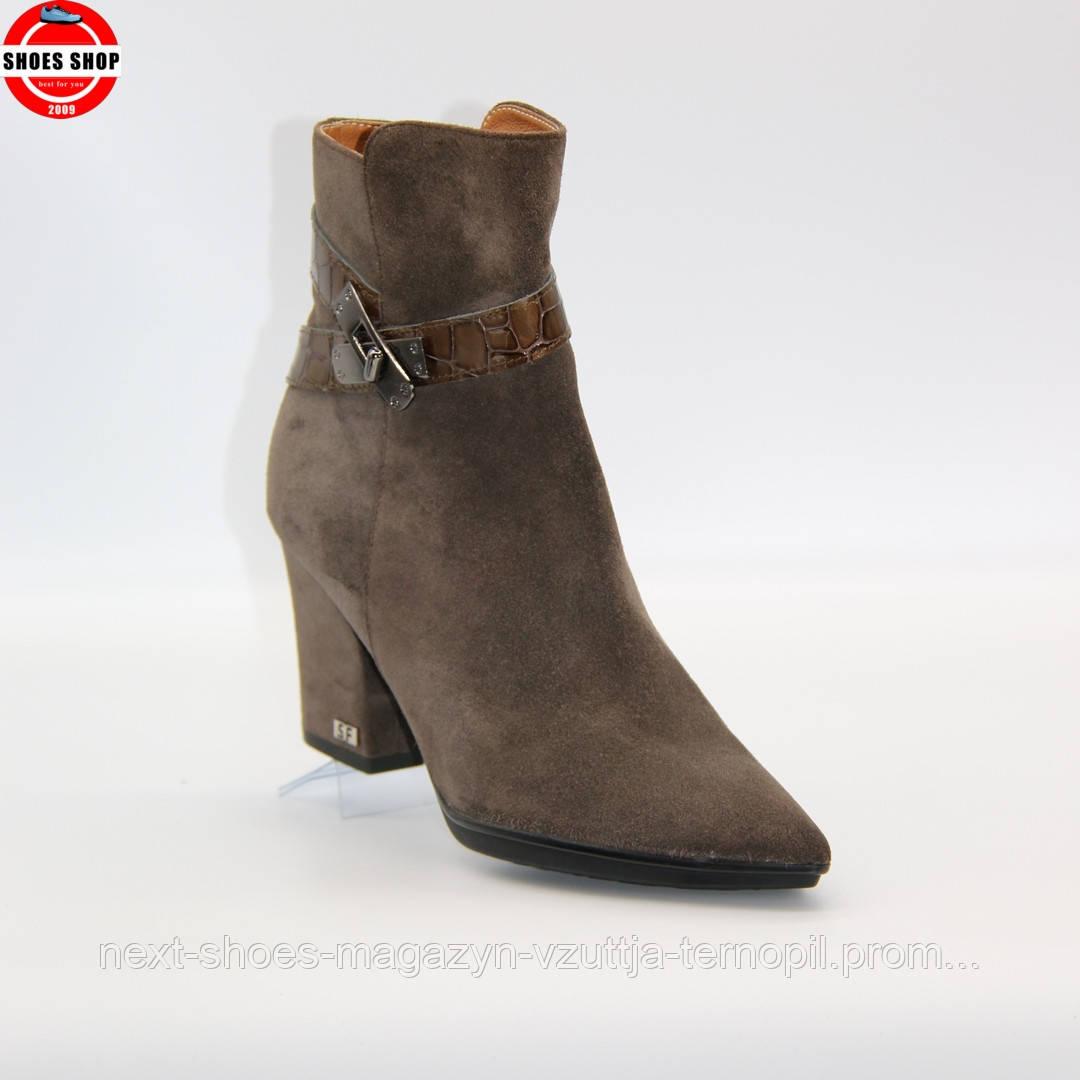 Жіночі ботильони Solo Femme (Польща) коричневого кольору. Модні та комфортні. Стиль: Ешлі Бенсон