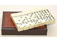 I5-47 Домино подарочное в кожанном футляре, Кости тяжелые для игры в домино, Настольная игра,Домино подарочное