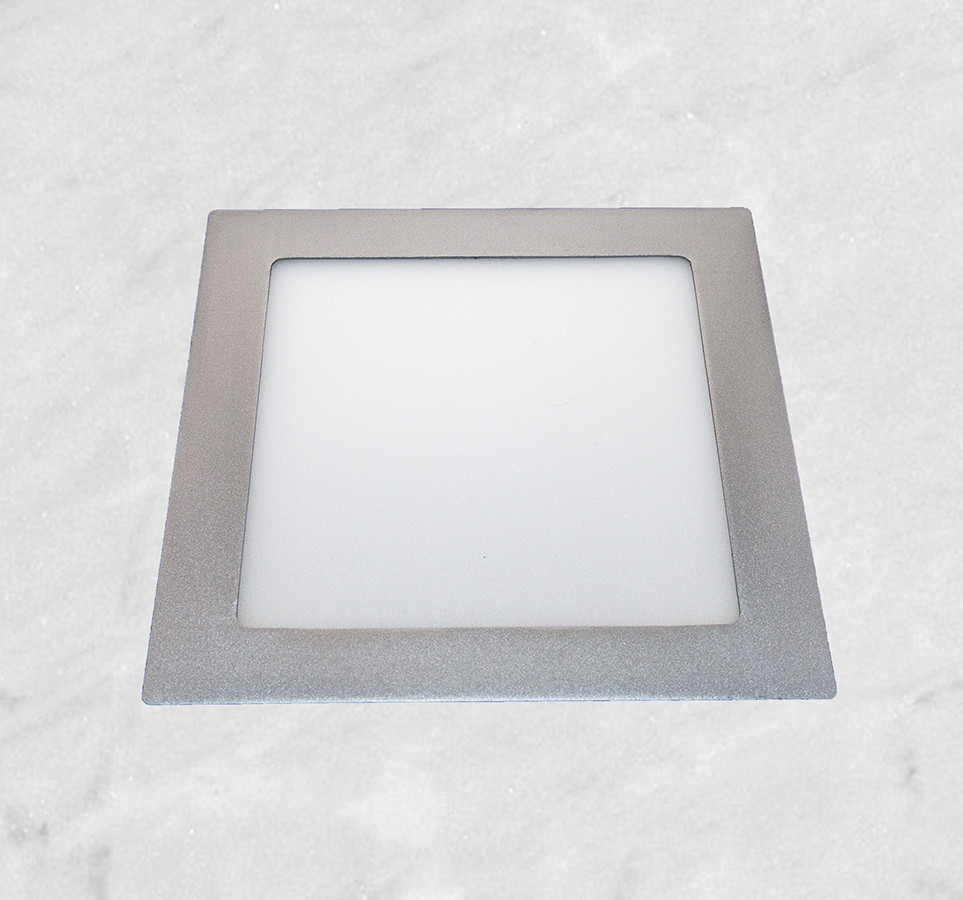 Врезной светильник (квадрат, 20см, 15W, холодный свет)