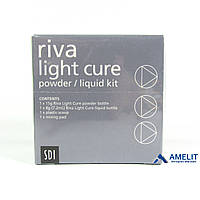 Рива ЛЦ, стеклоиономерный цемент (Riva Light Cure, SDI), 15г + 7,2мл