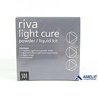 Рива ЛЦ (Riva Light Cure, SDI), стеклоиономерный цемент (цвет А2, А3), 15г + 7.2мл