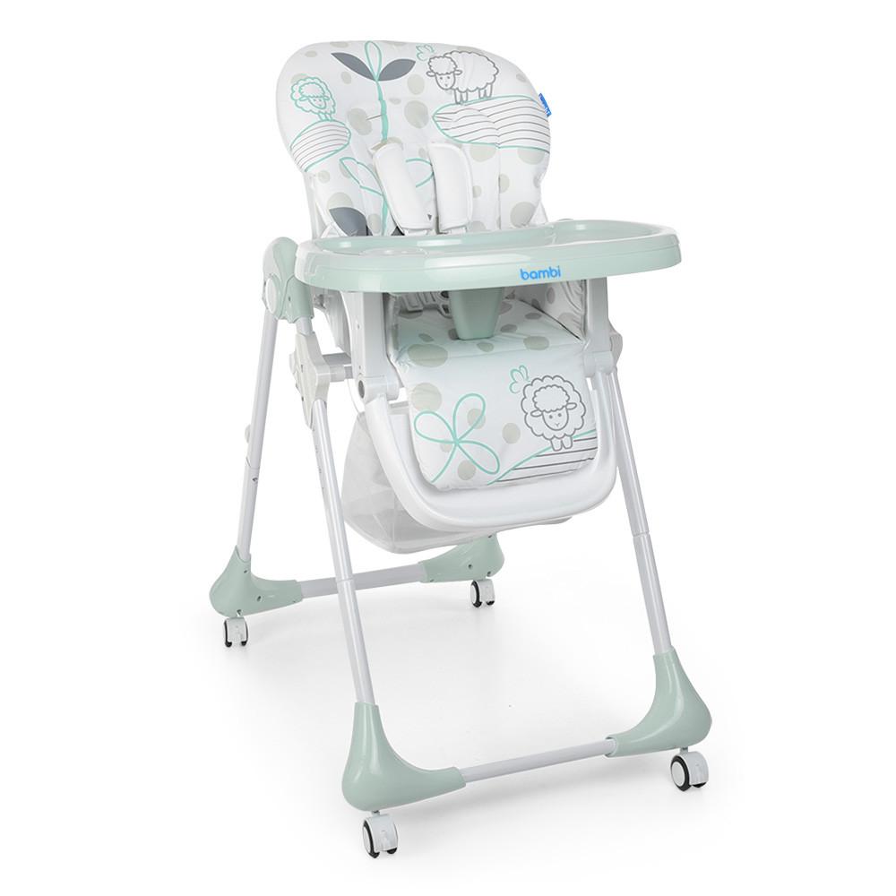 Стульчик для кормления с выдвижным столиком M 3233 Lamb Light Blue Гарантия качества Быстрая доставка