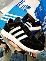 Мужские кроссовки Adidas iniki / black