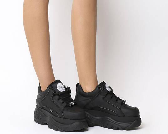 Женские Ботинки BUFFALO low black черные, фото 2