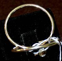 Зористі срібні сережки - кільця