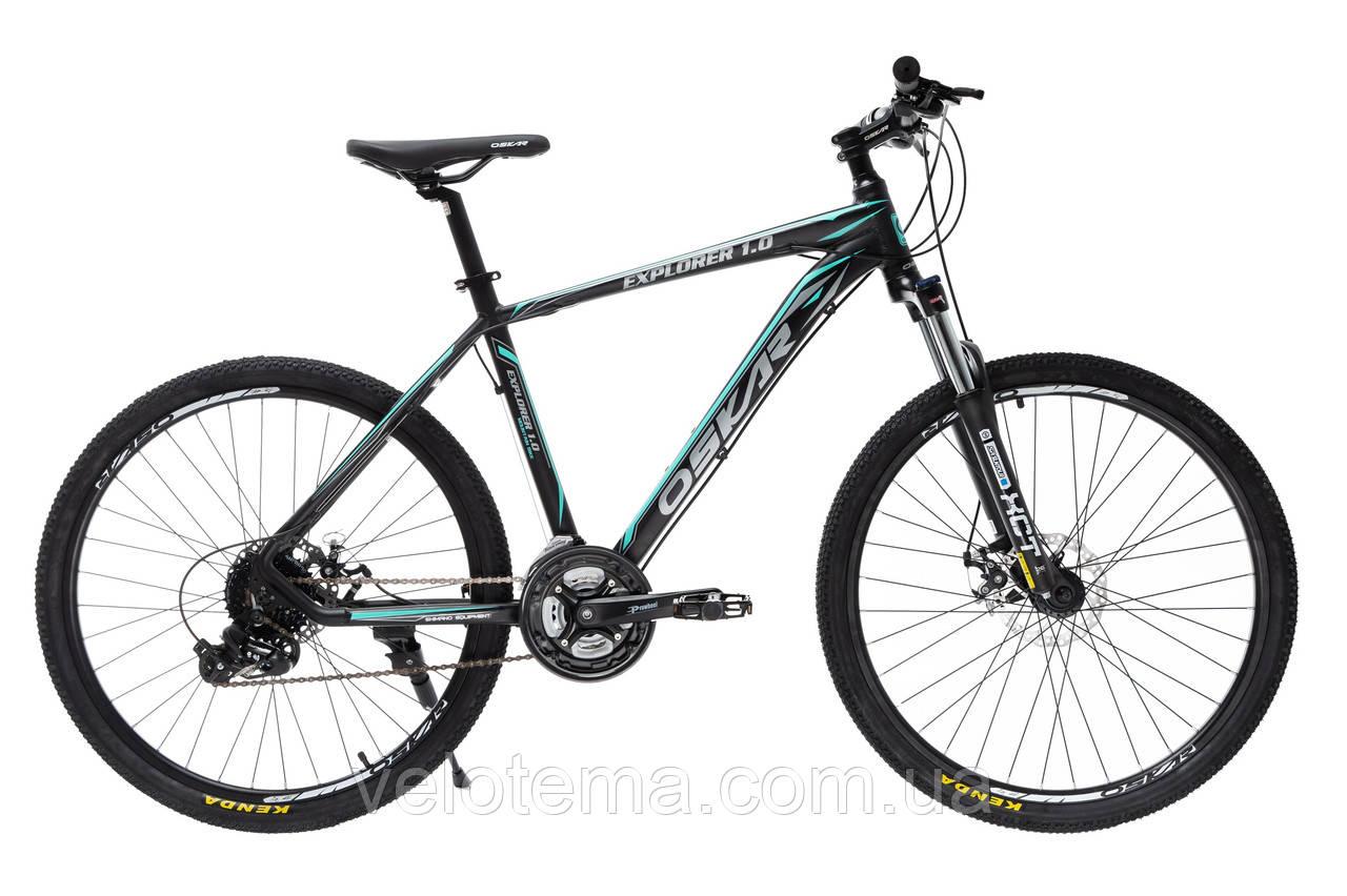 """Велосипед Oskar 26"""" EXPLORER 1.0 черно-голубой"""