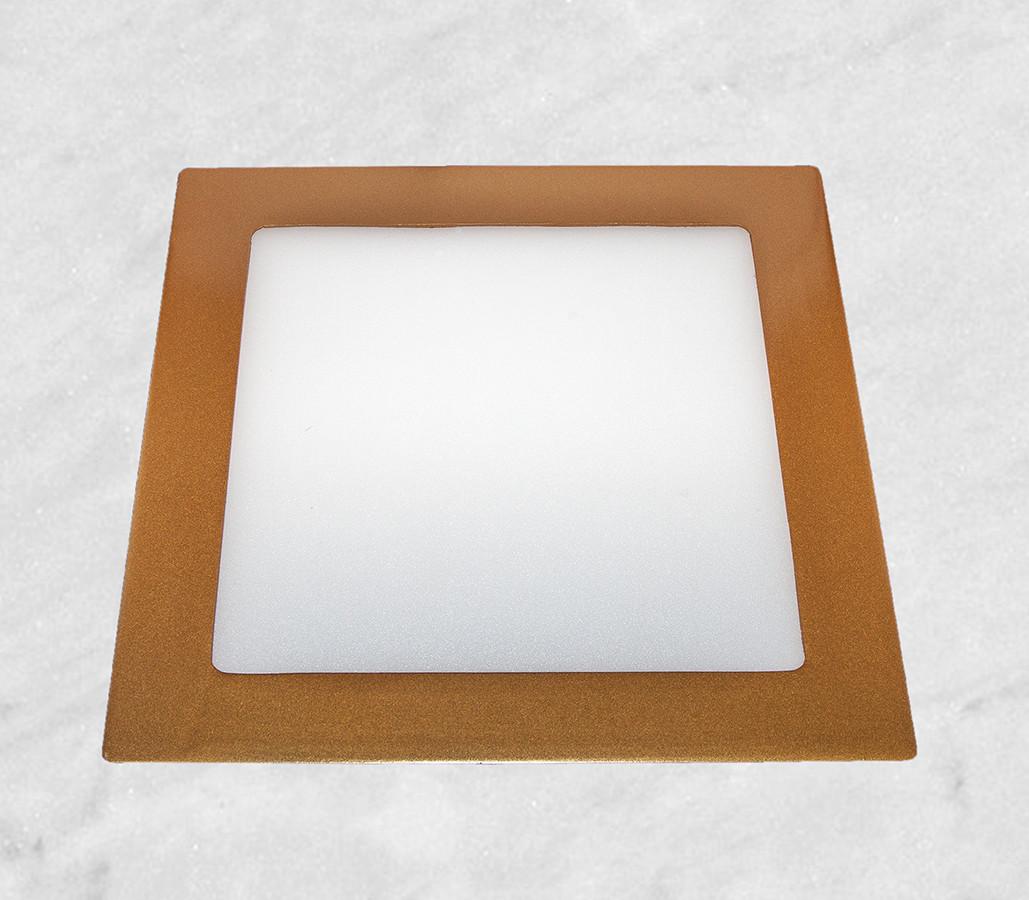 Врезной светильник (квадрат, 12см, 6W, холодный свет)
