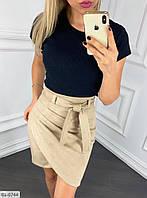 Замшевая короткая юбка хит сезона арт 103