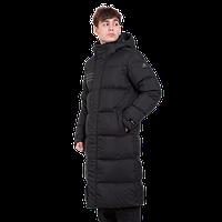 Мужской длинный пуховик Adidas CK чёрного цвета