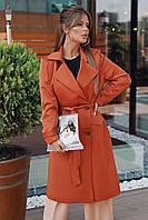 """Плащ-тренч женский длинный на пуговицах, размеры 42-46 (3цв) """"AMBRE"""" купить недорого от прямого поставщика"""