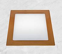 Врезной светильник (квадрат, 17см, 12W, холодный свет)
