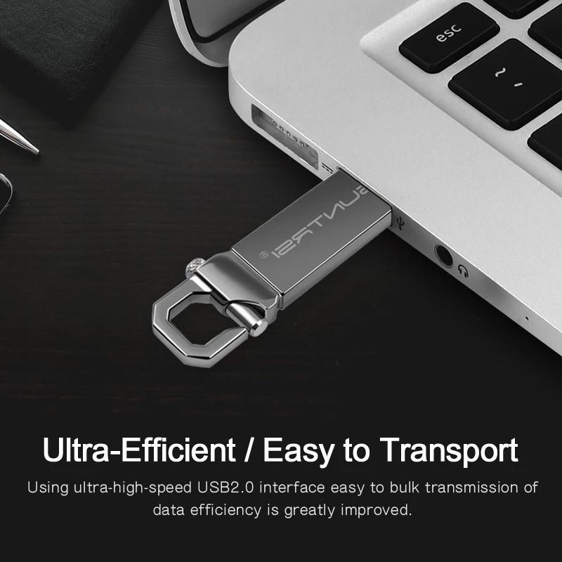 USB флеш накопитель с карабином Suntrsi 32Гб Серебро