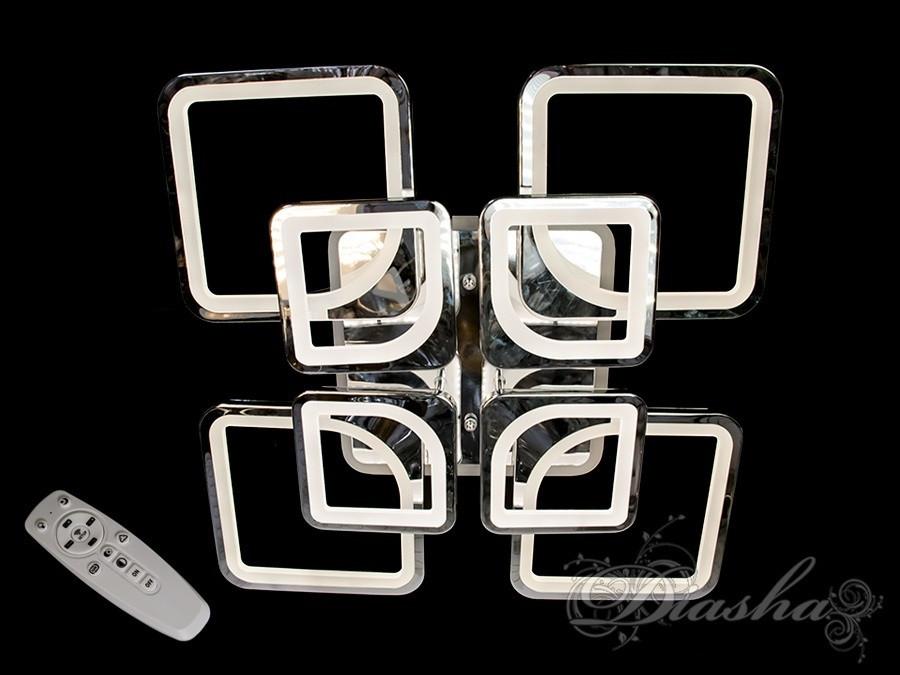 Сучасна світлодіодна люстра з різнокольоровою підсвіткою 8060/4+4HR LED 3color dimmer