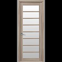 Дверь межкомнатная Виола сандал 900 мм со стеклом сатин (матовое), Экошпон.