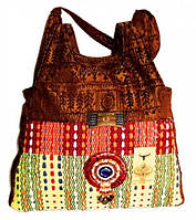 9040102 Сумка дамская кожа + текстиль + бусины №7