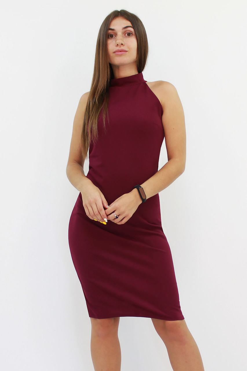 S (42-44) / Коктейльне жіноче плаття Golden, марсала