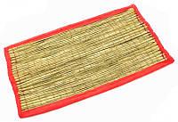 9070149 Циновка для медитации из травы Куша (Kusha Asan) Розовый кант