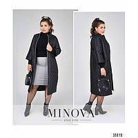 Пальто большие размеры женское Минова 1470-1 р 48-62