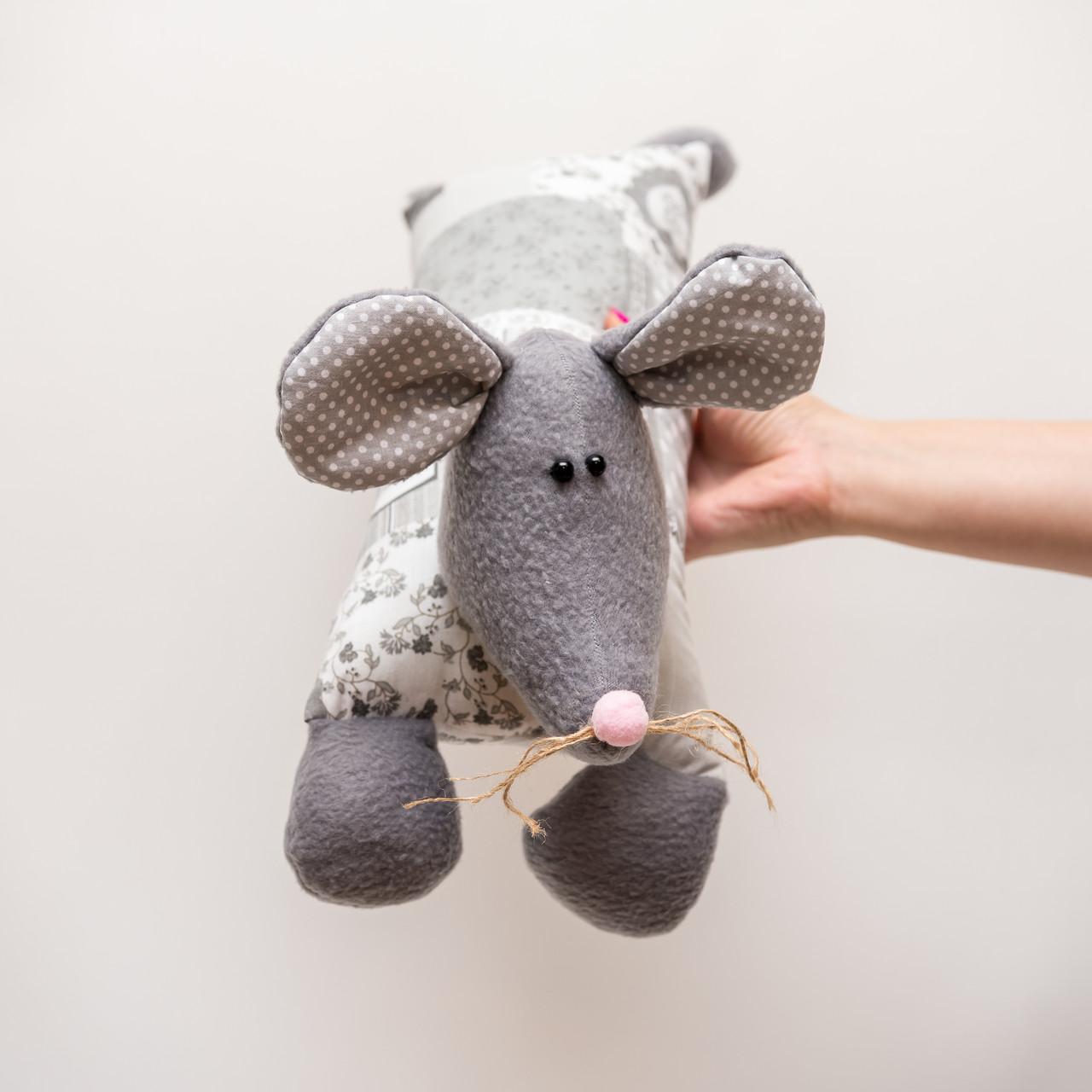 Подушка - игрушка Vikamade  валик Крысенок