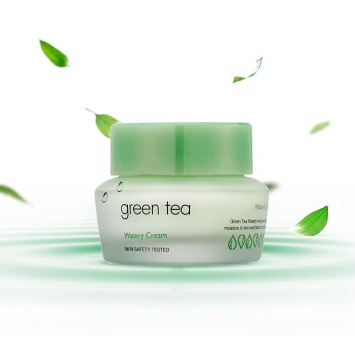 It's Skin Green Tea Watery Cream Увлажняющий крем для лица с экстрактом зелёного чая