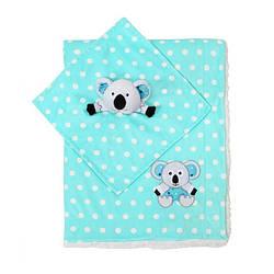 Одеяльце двухстороннее «Minky» с первой обнимашкой (коала) BabyOno