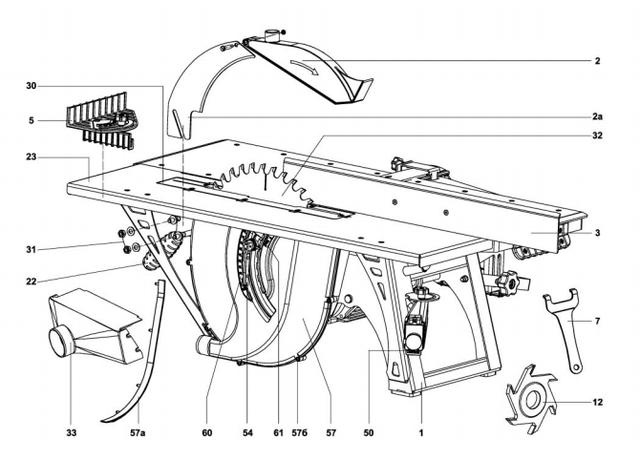 Станок деревообрабатывающий многофункциональный Белмаш СДМ-2000 ― конструкция, фото 1