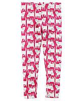 Розовые трикотажные леггинсы Картерс для девочки
