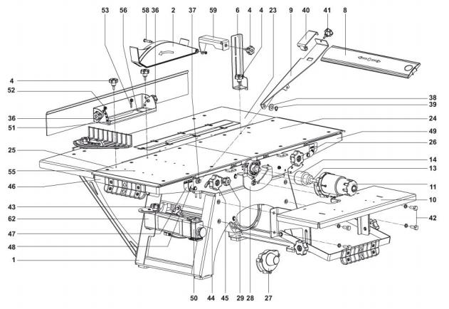 Станок деревообрабатывающий многофункциональный Белмаш СДМ-2000 ― конструкция, фото 2