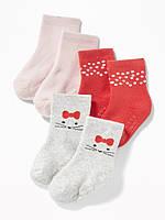 Махровые носочки 3 пары Old Navy для девочки