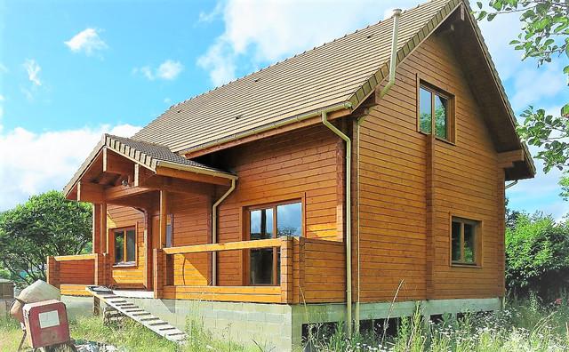 Будинок з клеєного профільованого бруса фото