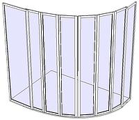 Угловая душевая кабинка 4х4