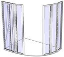 Угловая душевая кабинка 4х4, фото 2