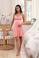 Ночная рубашка для беременных и кормящих Mirelle (коралл), фото 1