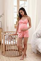 Пижама для беременных и кормящих Mirelle (коралл), фото 1