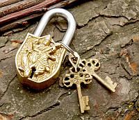 9070053 Замок навесной бронзовый Сарасвати