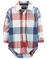 Детская клетчатая боди-рубашка OшКош для мальчика