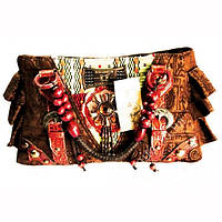 9040102 Сумка дамская кожа + текстиль + бусины №3