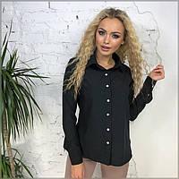 Женская рубашка классическая черная, фото 1