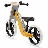 Велобег деревянный Kinderkraft Uniq жёлтый, фото 3
