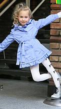 Детский плащ для девочки весеннее BRUMS Италия 141BGAA001 Сиреневый весенний осенний демисезонный 98