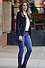 Жіночі туфлі Steizer (Польща) синього кольору. Красиві та комфортні. Стиль: Сінді Кроуфорд, фото 5