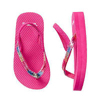 Детские розовые вьетнамки (Flip Flops) Gymboree Джимбори для девочки