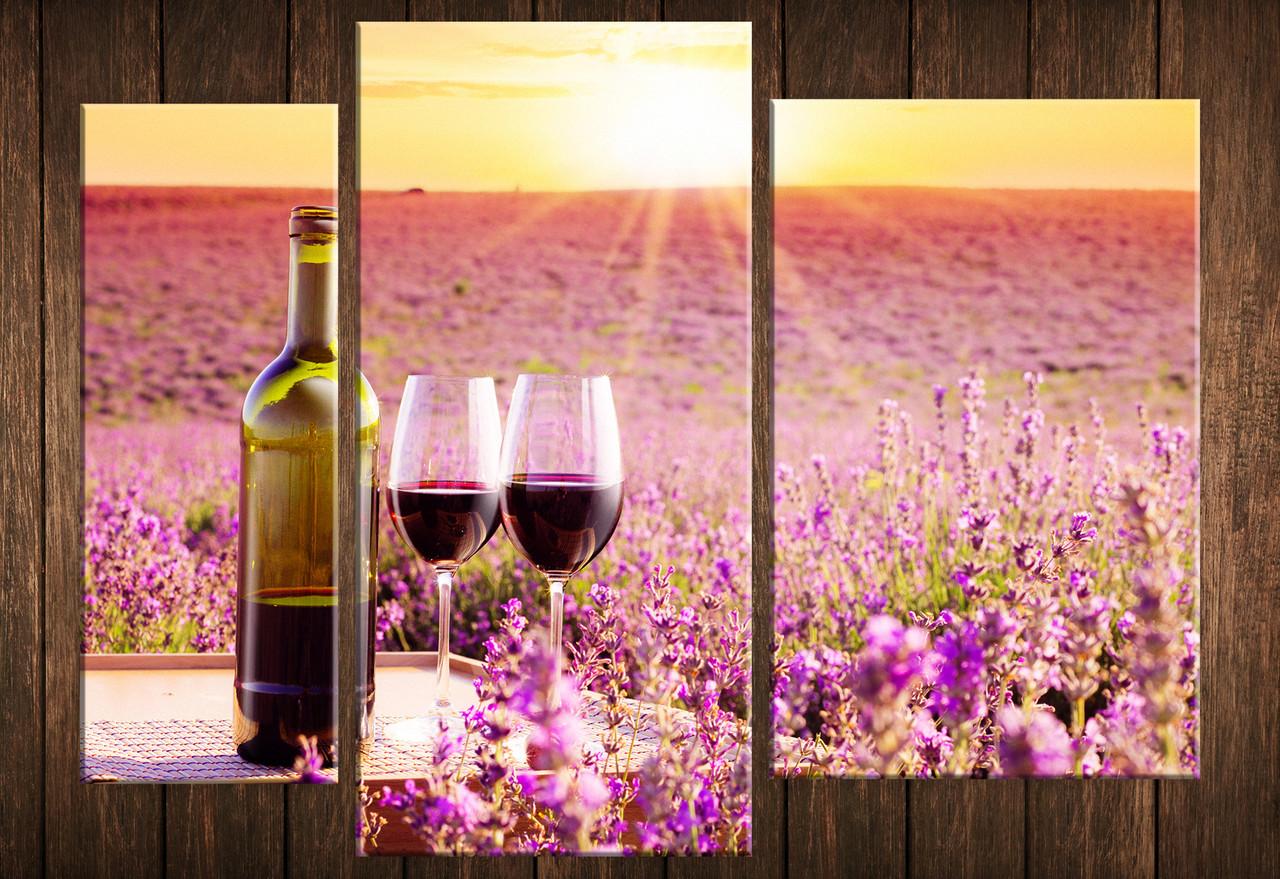 """Модульная картина на холсте """"Вино в провансе"""""""