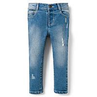 Детские зауженные джинсы с потертостями Crazy 8 для девочки